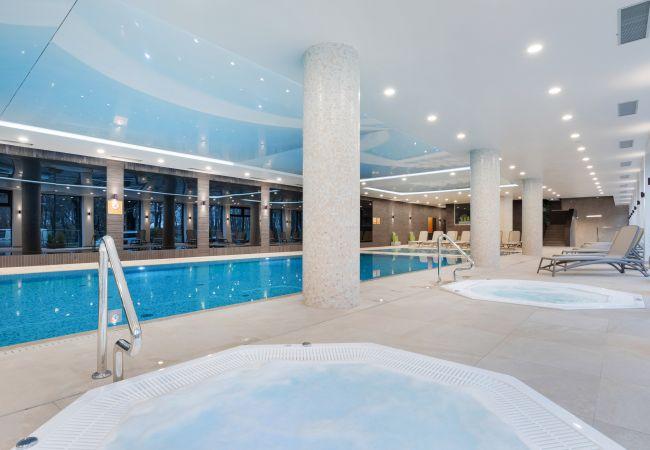 apartament, wynajem, zewnątrz, basen, Nadmorskie Tarasy, Kołobrzeg, wakacje, wypoczynek